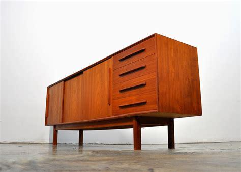 select modern dyrlund teak credenza bar sideboard