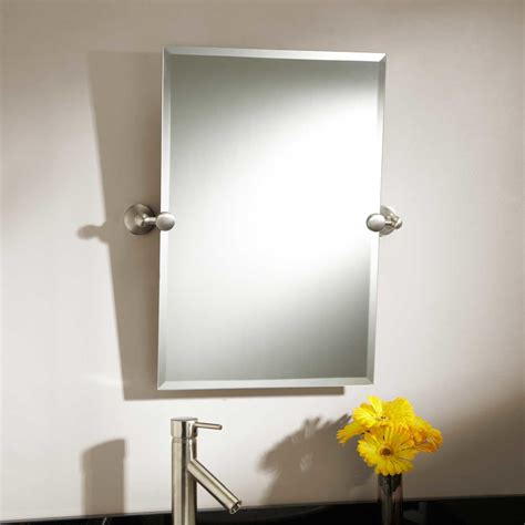 bathroom tilting mirror hardware tilt bathroom mirror in