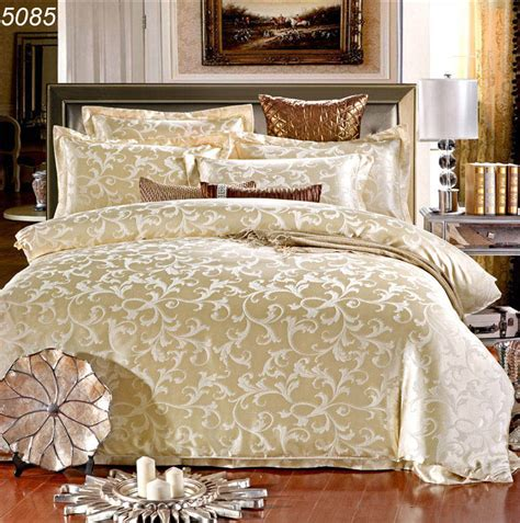 silk bed set beige silk bed set 4pcs king bedding set tribute silk