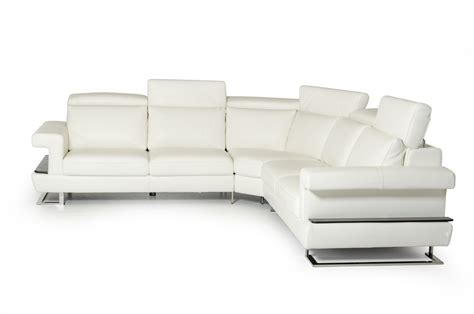 estro salotti crosby modern white italian leather
