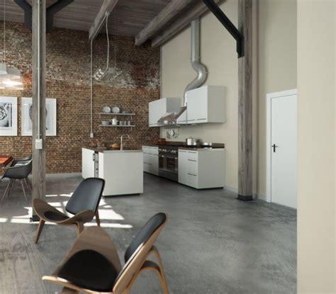 concrete apartment soak in design brick wall studio apartment inspiration