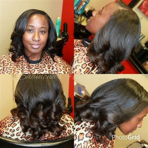 malaysaian braidless sew in shops chicago love these braidless malaysian sew in extensions by