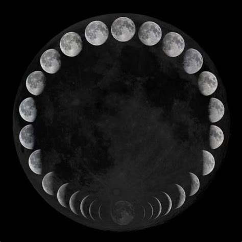 moon phase grey pudding lunar phase cycle