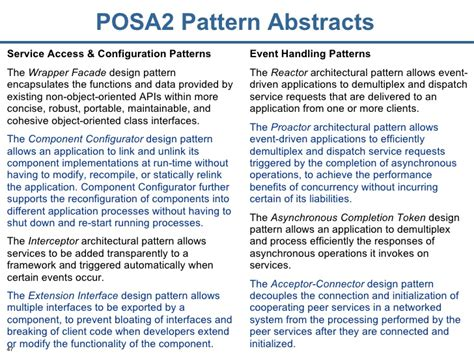 pattern oriented software architecture a pattern language pattern oriented software architecture patterns for