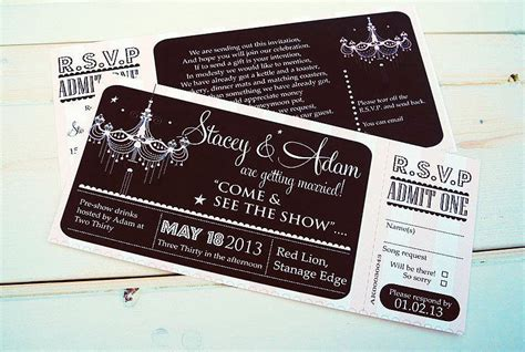 theatre ticket invitation by sweet words stationery notonthehighstreet