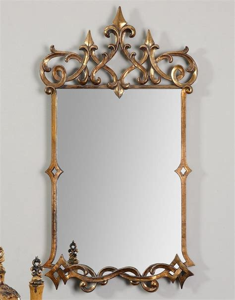 metal crown wall decor antique gold world style wall mirror metal