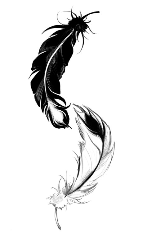 feather tattoo ying yang ying yang feather by lilythula on deviantart