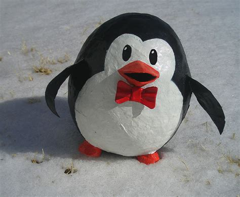 How To Make A Paper Mache Penguin - flickr photo