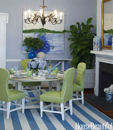 Blue And Green Dining Room by Diy Crafts