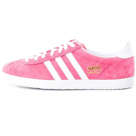 adidas pink adidas gazelle og w womens trainers in pink white