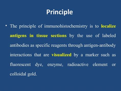 principle of frozen section immunohistochemistry in pathology laboratory