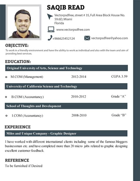 Cv Sles For Fresh Graduates Pakistan Professional Fresh Students Cv Template