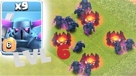 Coc Pekka Level6 gem to max lvl 6 pekka clash of clans pekka pwr
