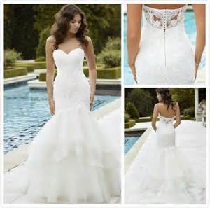 Wedding Dresses For Sale Online Sale 2016 Lace Wedding Dresses With Backless Mermaid Sweetheart Appplique Beading Ruffles