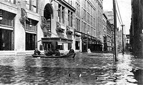 rowboat in a flood pittsburgh s golden triangle 1907