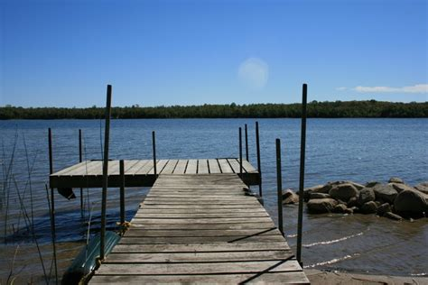 Cottage Docks by Miller Lake Ontario Cottage Rental Loon Lodge 187 Cottage Dock