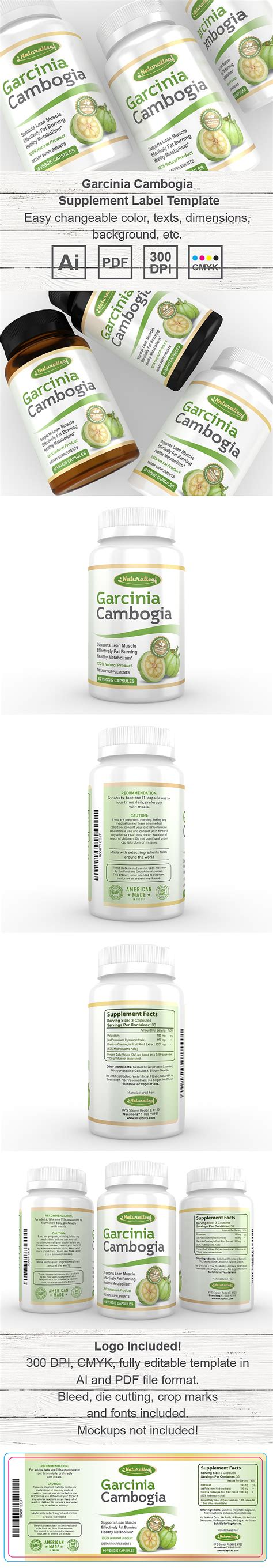 supplement label template garcinia cambogia supplement label template dlayouts