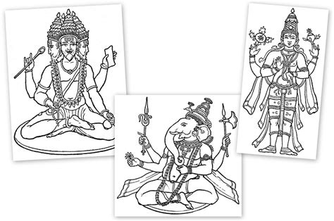 coloring pages of indian gods learning about hinduism hindu gods and goddesses