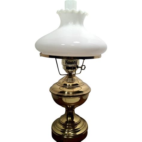 glass globe table l brass electric table l white glass globe and