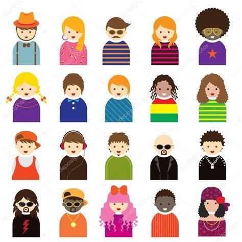 imagenes varias personas varias personas s 237 mbolo set de iconos adolescentes
