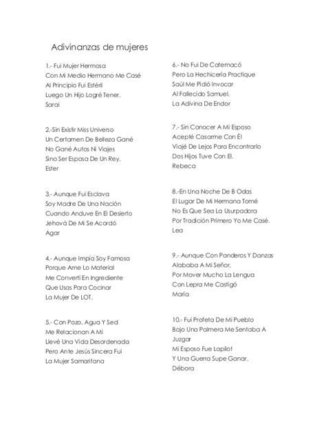 preguntas y adivinanzas de la biblia 26 adivinanzas b 237 blicas de mujeres