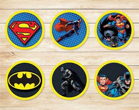 Cupcake Topper Batman Superman batman superman cupcake toppers batman superman stickers