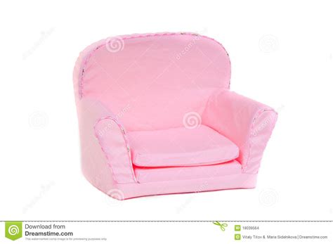 Small Pink Armchair Pink Armchair Isolated On White Background Stock Images