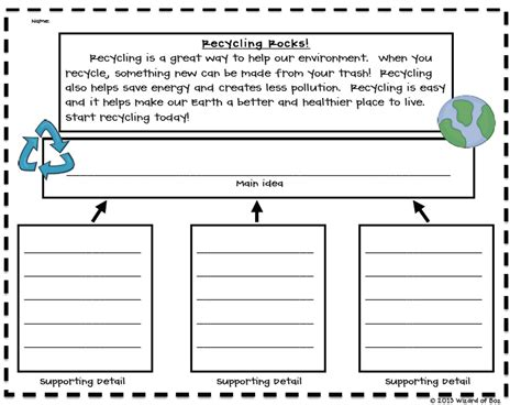 Idea And Details Summary Frames by The Wizard Of Boz Earth Day Idea And A Freebie