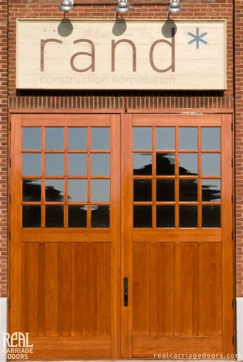 Real Carriage Garage Doors 1000 Images About Commercial Projects On Barn Door Hardware Sliding Barn Doors And