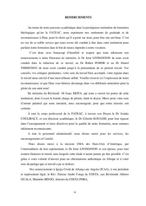 Lettre De Remerciement Travail Accompli Monografia Tomas Page De Garde D 233 Dicace Remerciements