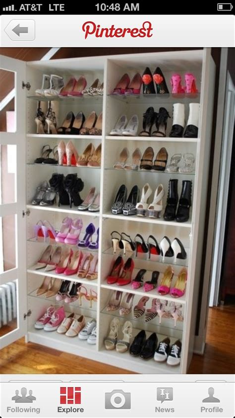turn a book shelf into a shoe rack diy home products
