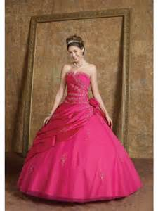 embroidery gown wedding dress in color fuchsia prlog