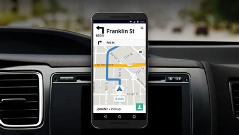 uber app for android uber revs navigation for drivers now includes in app navigation on android themed