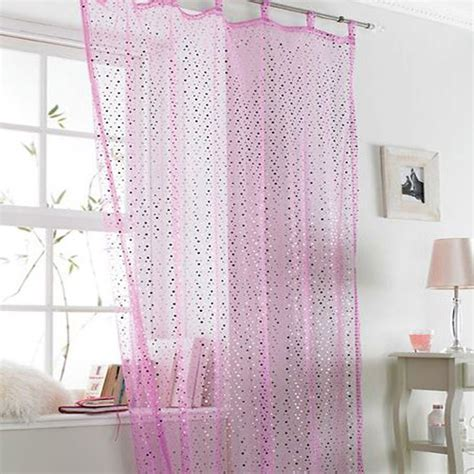Pink Sparkle Curtains Popsicle Pink Sparkle Voile Curtain Panel Tonys Textiles