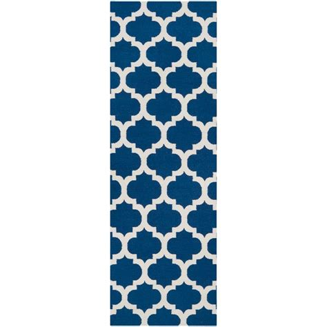 royal blue runner rug artistic weavers trondheim royal blue 2 ft 6 in x 8 ft flatweave rug runner trondheim 268