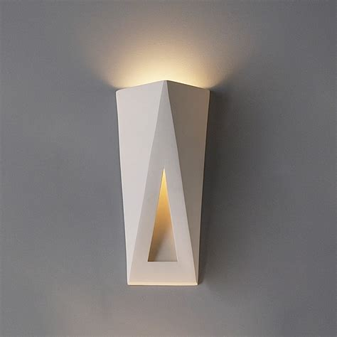 Modern Sconce Light Fixtures 8 Quot Topsy Turvy Triangles Contemporary Sconce Contemporary Ceramic Interior Wall Sconces