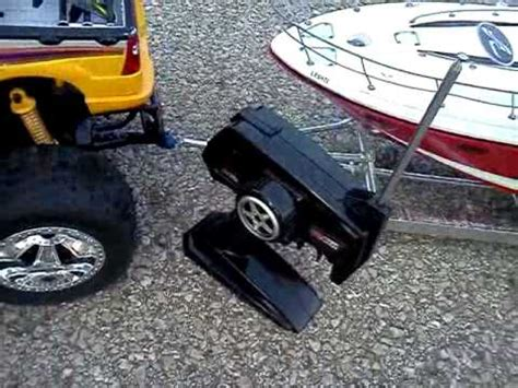 rc boat trailer video rc car and boat trailer with boat youtube