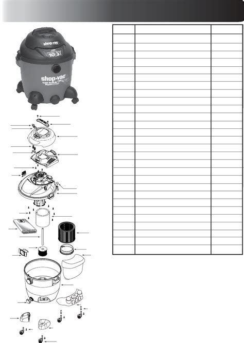 255rb E M O R Y Varrany Series 06emo1359 shop vac 92p series 92p350 user s manual for free manualagent