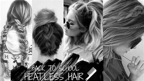 heatless hairstyles tumblr back to school heatless hair styles tumblr inspired youtube