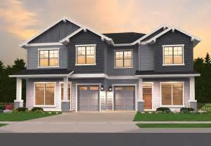 home designs craftsman duplex 85162ms architectural designs house plans