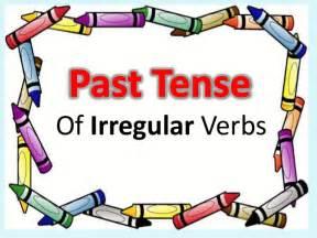 past tense of irregular verbs year 4