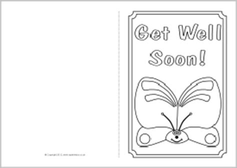 get well cards template 5 best images of get well soon card printable template