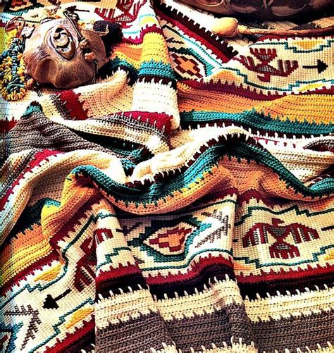 Decke Indianer Muster by Crochet Blanket Pattern Indian Summer Afghan