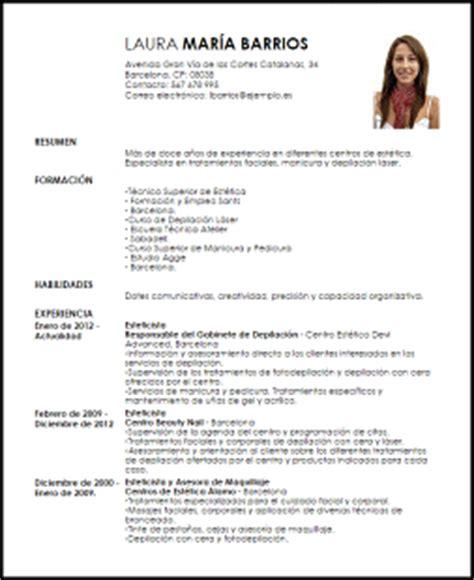 Modelo Curriculum Vitae Maquilladora Ejemplo Curriculum Vitae Esteticista Livecareer