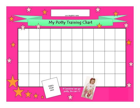 free printable potty chart template cute neat ideas pinterest