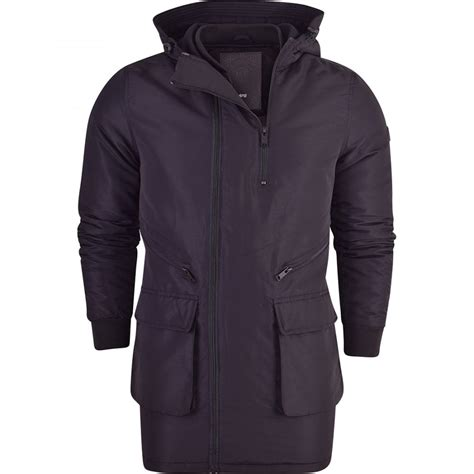 Padded Quilted Coats by Mens Black Padded Quilted Jacket Zip Pockets