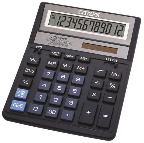 Kalkulator Sedang Citizen Sdc 810bn kalkulator biurowy citizen sdc 888xbl 12 cyfrowy 203x158mm niebieski ebiurowe