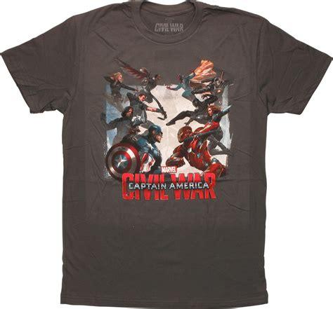 T Shirt Captain America Civil War 05 captain america civil war clash t shirt