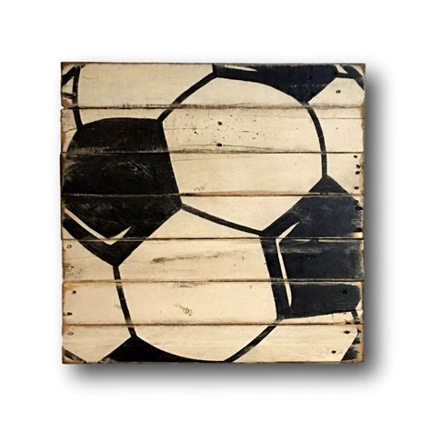 Soccer Wall Decor by Soccer Wall Sports Decor Rustic Vintage By