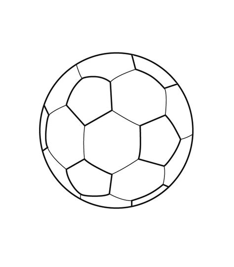 Easy Soccer Ball Coloring Pages Balls Coloring Pages